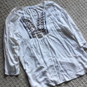 Boho style 3/4 sleeve blouse- Lola brand